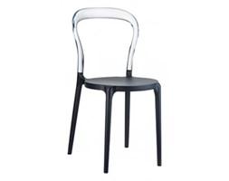 Krzesło Mr. Bobo - D2 - czarne/przeźroczyste
