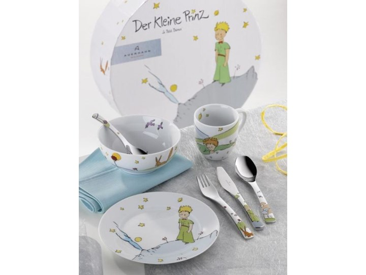 Zestaw Obiadowy Dla Dzieci Maly Ksiaze 7 Elementow Auerhahn