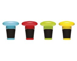 Korek plastikowy do wina, różne kolory Bar Sagaform