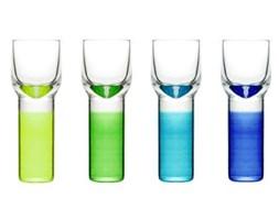 Kieliszki do wódki lub likieru , zielono niebieskie (4 sztuki) Club Sagaform