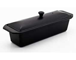 Brytfanna żeliwna emaliowana prostokątna z pokrywką (pojemność: 1,2 litra) w kolorze czarnym Chasseur