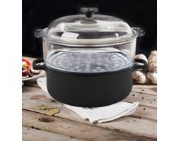 Garnek żeliwny do gotowania na parze CHASSEUR CZERŃ 24 cm -- czarny