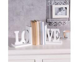 Dekoria Podpórki na książki Love, komplet 2szt. białe
