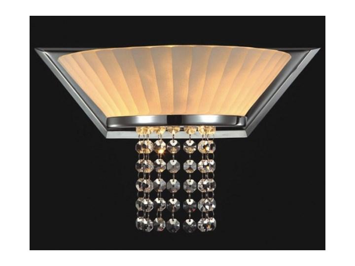 Stylowy Kinkiet Abażurowy Lampa ścienna Oprawa Kryształowa Do Salonu Coffee Italux Mb93608 1a Ip20 Chrom Ecru