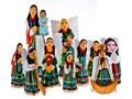 Rzeźba z drewna - modlący się anioł w stroju ludowym - 25 cm Figury i rzeźby