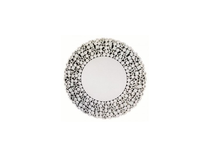 Dekoracyjne Lustro Okrągłe W Ramie Z Kryształów
