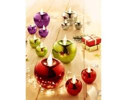 Dekoracja jabłka LED - zestaw 3 szt
