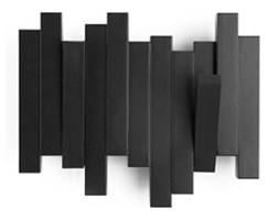 Umbra Sticks Black Czarny Wieszak Ścienny Mały - Trzy Haczyki - 318209-040