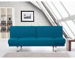 Rozkladana sofa ruchome podlokietniki - YORK niebieski