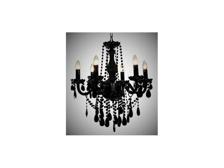 Piękna Czarna Lampa żyrandol W Stylu Glamour