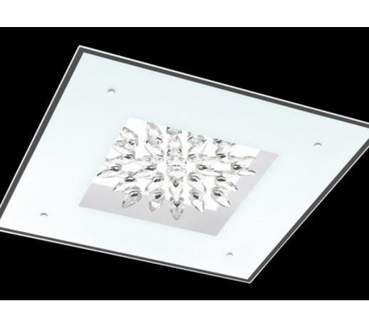 Kryształowa Lampa ścienna Oprawa Led Sufitowa Kinkiet Plafon Do łazienki Benalua Eglo 93575 Crystal Biały Przezroczysty