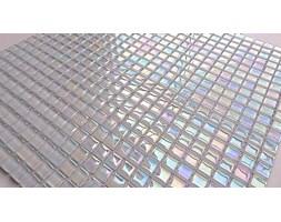 Mozaika Szklana Biała perła 300x300 A21