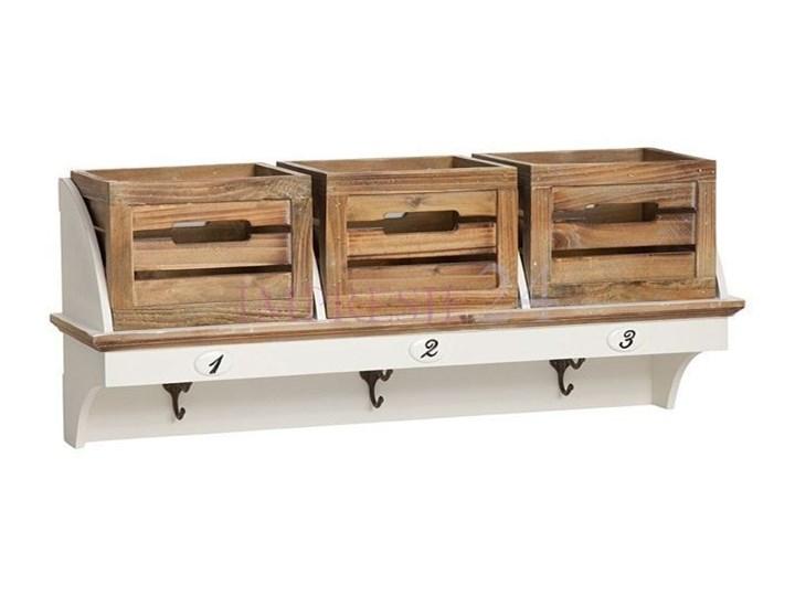 Garderoba z serii PROVANCE, matowa biel, skrzynie, naturalne drewno. Ścienny szkło Metal Płyta MDF Styl prowansalski