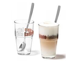 Leonardo SOLO Szklanki - Zestaw do Kawy Latte z Łyżeczkami 2 Szt.