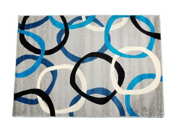 Dywan Pixel 160x230 7756 T Szaro Niebieski Family Fabrics