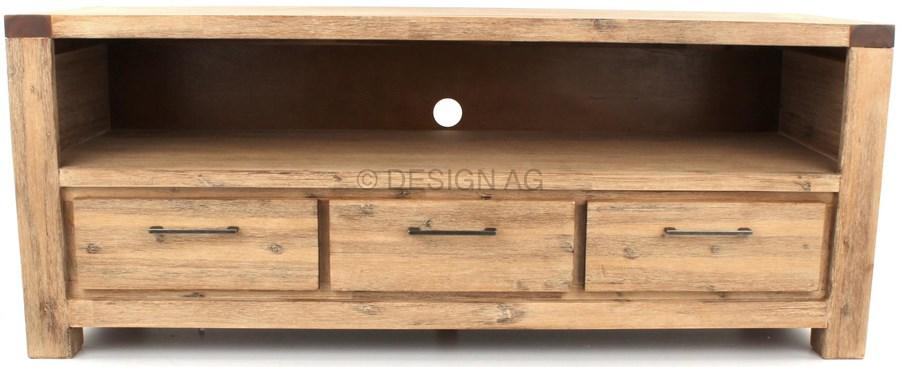 wolf m bel coast szafka rtv drewniana z 3 szufladami 150x60 cm akacja szczotkowana jasna 9617s. Black Bedroom Furniture Sets. Home Design Ideas