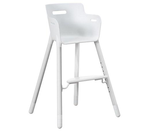 Bardzo dobra TYLKO Z KSPOZYCJI Wysokie krzesełko, PCV + lity buk kolor biały, 0 RU55