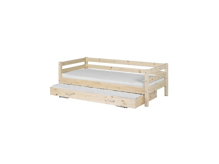 Łóżko Classic z łóżkiem wysuwanym, sosna, lakier bezbarwny.