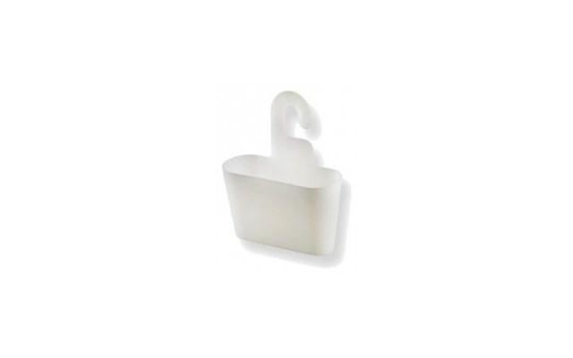 Pojemnik łazienkowy Authentics Basics Biały Przezroczysty Wiszący