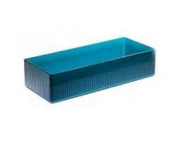 Pudełko na akcesoria łazienkowe Authentics Kali, transparentne niebieskie