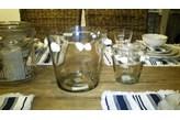 Lampion szklany z muszelkami Vase with sea shells