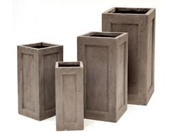 Donica ogrodowa beton akryl taupe S 22X22X50