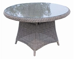 Stół ogrodowy PORTO śr 120 cm blat szklany