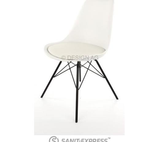 Krzesło Gina Białe Nogi Porgy Metalowe Czarne Ginaporgy B C
