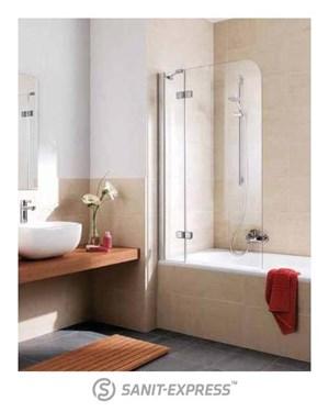 kermi gia xp parawan z polem sta ym na wann parawan odchylany w prawo 80 150 cm srebrny. Black Bedroom Furniture Sets. Home Design Ideas