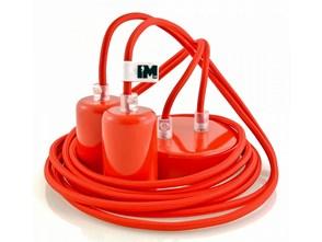 Kolorowe kable w oplocie czerwonym - 2 x 2,5m