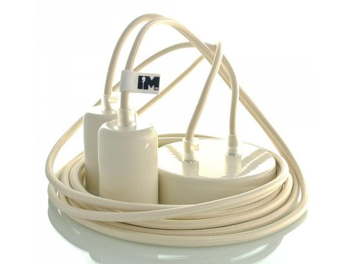 Kolorowe kable w oplocie kremowym - 2 x 2,5m