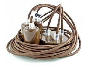 Kolorowe kable w oplocie brązowym: 3 x 2,5m