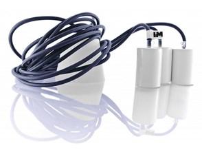 Lampa wisząca kable w oplocie granatowym 3 x 2,5m