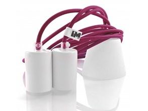 Nowoczesne oświetlenie lampy wiszące - różowa 2x2,5m