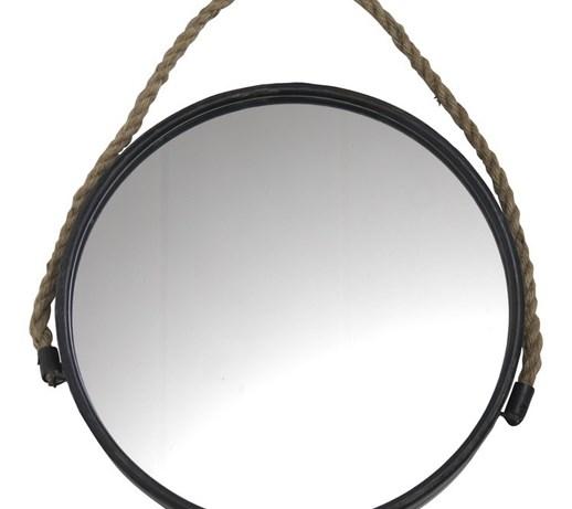 Lustro na sznurze 45cm lustra do garderoby zdj cia for Ronde spiegel met touw