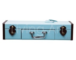 Półka ścienna Suitcase Light Blue 1Drw, kare design