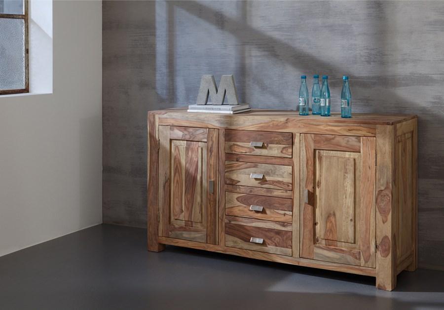 wolf m bel yoga komoda 2 drzwi 4 szuflady drewno. Black Bedroom Furniture Sets. Home Design Ideas