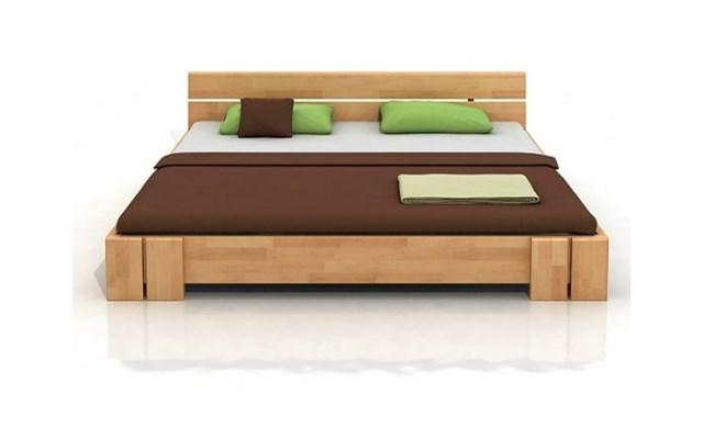 Arhus Long Niskie łóżko Bukowe Ze Stelażem 200x220