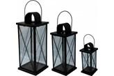 Lampion metalowy do domu, ogrodu- komplet 3 szt
