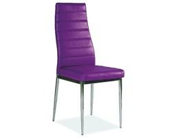 Krzesło H-261 chrom/fioletowy