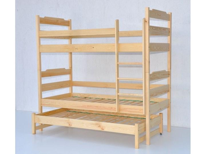 łóżko Piętrowe Trzyosobowe Z Drabiną Pionową łk05dp0480 Kolor