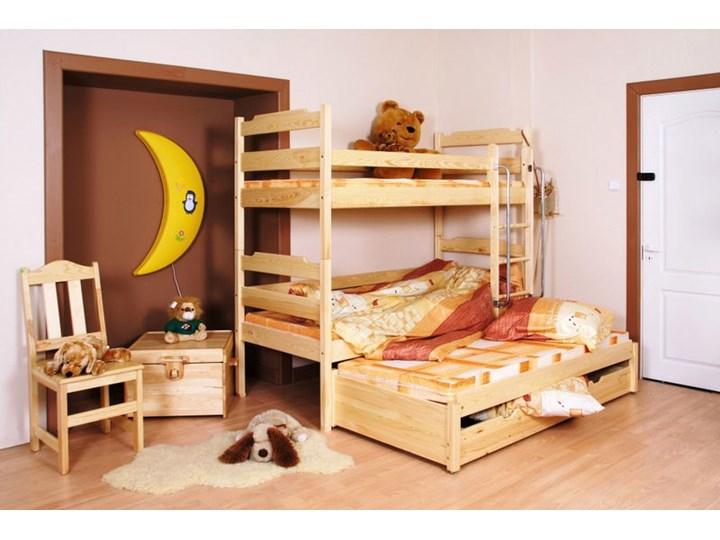 łóżko Piętrowe Trzyosobowe łk05dp04tpn90 Kolor Kremowy