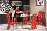 Zestaw mebli - stół PARYS A i 4 krzesła H-77 - Profesjonalna Obsługa - Najniższe Koszty