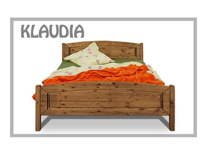 łóżko Do Sypialni Klaudia 90x200 Sosnowe Drewno Olejowane Kolor Drewna Kawa