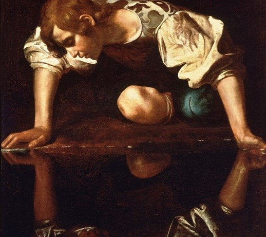 Narcyz   Caravaggio ; obraz  reprodukcja  Obrazy  zdjęcia, pom   -> Kuchnia Orzech Caravaggio