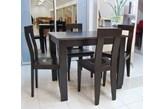 Zestaw Black Red White Avenue 4 krzesła + stół 90 x 70 cm