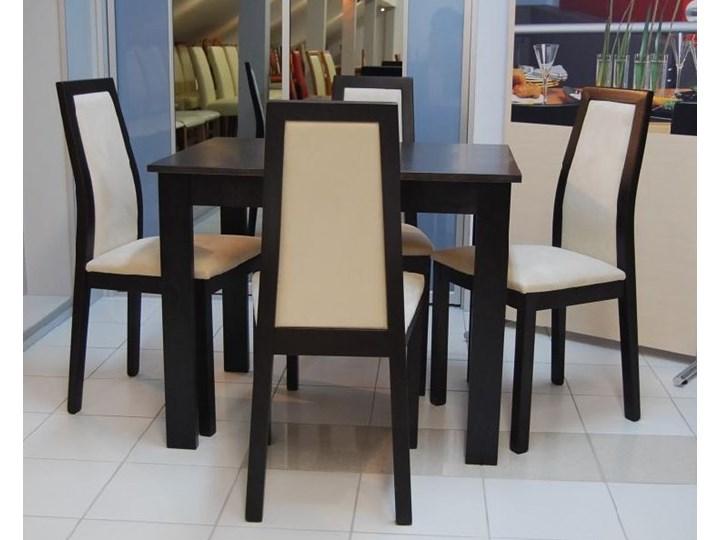 Zestaw Black Red White Largo 4 Krzesła Stół 70 X 110 Cm