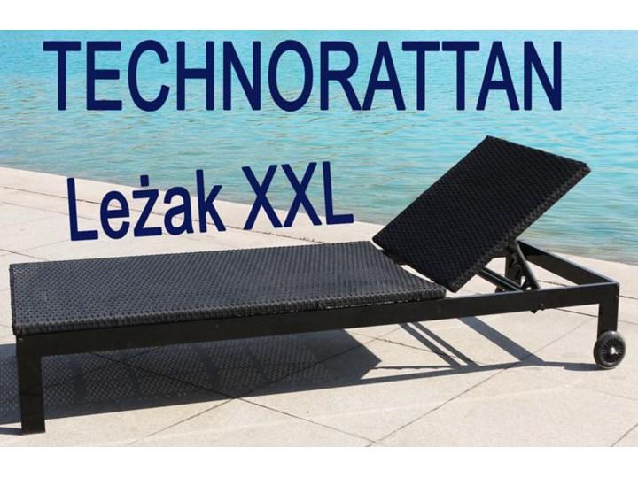 Najnowsze Leżak technorattan Marga mobilny + kółka duży XXL - Leżaki LL52