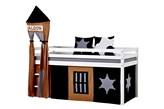 Łóżko dziecięce z litego drewna Cowboy-Basic-A9-1