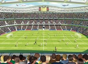 Tapeta 3D Walltastic - Mecz Piłkarski